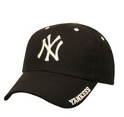 "Yankees Black ""Frost"" Adjustable Cap"