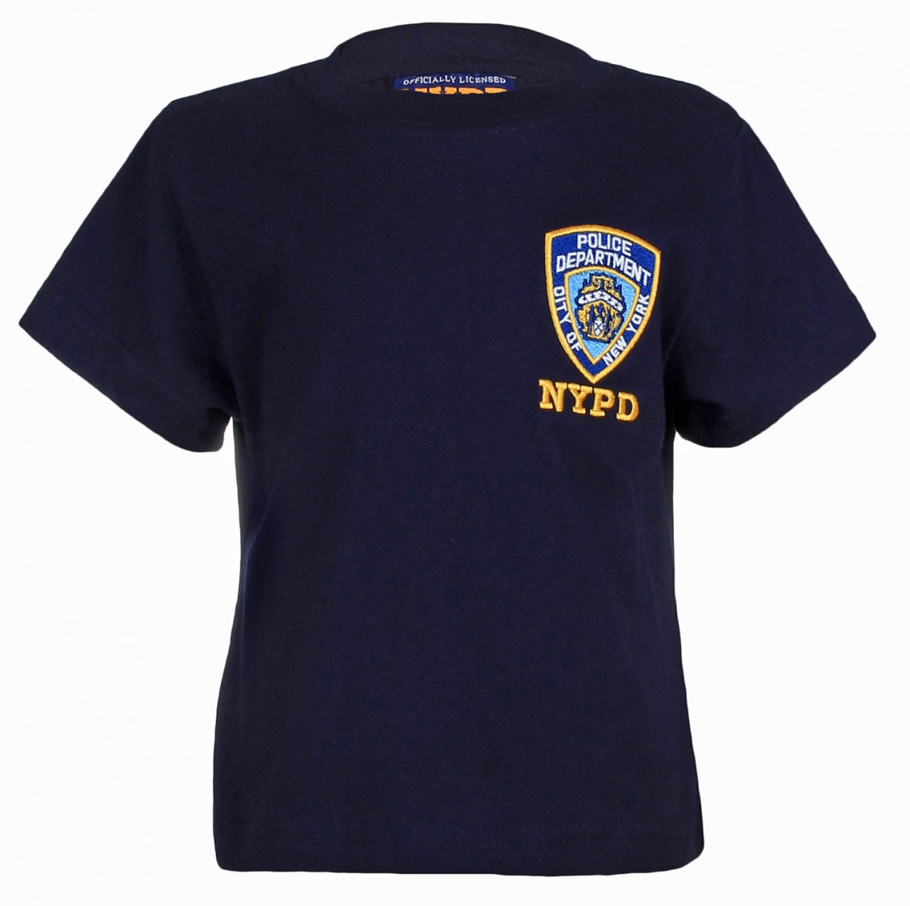 NYPD Embroidered Patch Navy Kids Tee photo