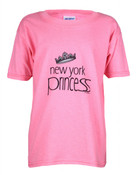 New York Princess Hot Pink Kids Tee