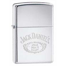 jack Daniel's Logo High Polish Chrome Zippo Photo