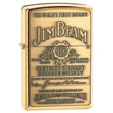 Jim Beam Brass Emblem Zippo Photo