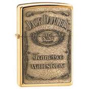 Jack Daniel's Label Brass Emblem Zippo
