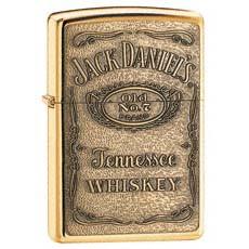 Jack Daniel's Label Brass Emblem Zippo Photo
