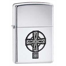 Celtic Cross High Polish Chrome Zippo Photo