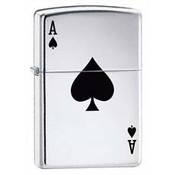 Lucky Ace High Polish Chrome Zippo
