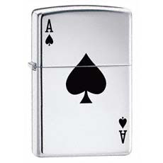 Lucky Ace High Polish Chrome Zippo Photo