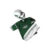 New York Jets Kids Small Helmet & Uniform Set