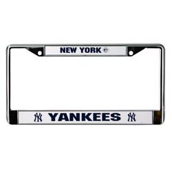 Yankees Metal License Plate Frame Photo