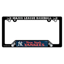 Yankees Plastic License Plate Frame Photo
