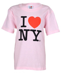 "I Love NY ""Classic"" Pink Kids Tee Photo"