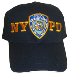 NYPD Patch Navy Adjustable Cap - FRONT Photo