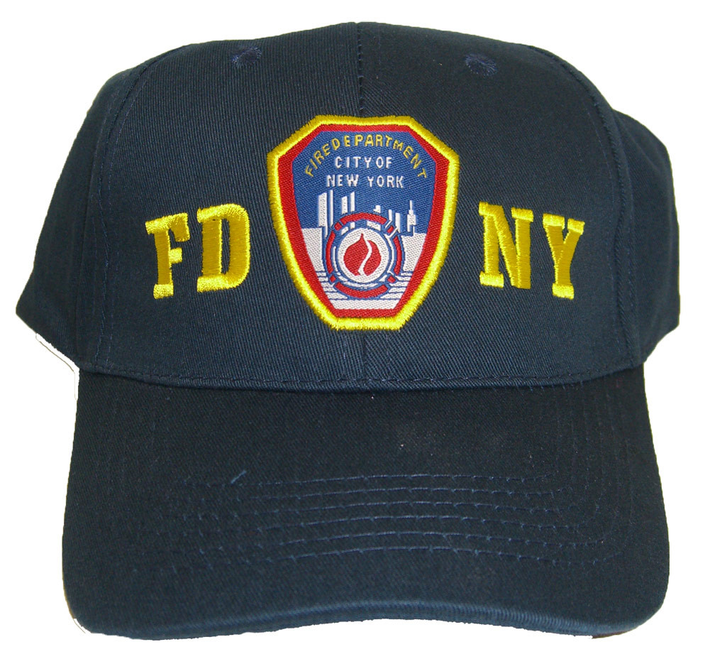 FDNY Patch Navy Adjustable Cap - FRONT photo