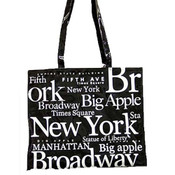 NYC White Letters PVC Hand Bag