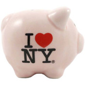 I Love NY Pink Piggy Bank