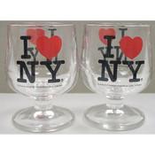 I Love NY Mini Brandy Glass
