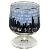 "NYC ""Grey Skyline"" Mini Brandy Glass"