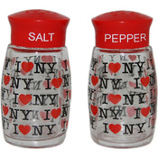 "I Love NY ""Repeat"" Salt & Pepper Shakers"