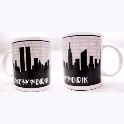 "NYC ""Grey Skyline"" Espresso Mug Photo"