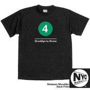 NYC Subway Line-4 Train Mens Tee