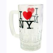 I Love NY Glass Beer Mug