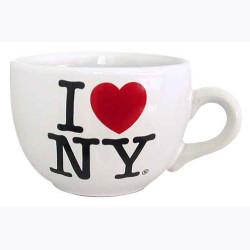I Love NY White Soup Mug Photo