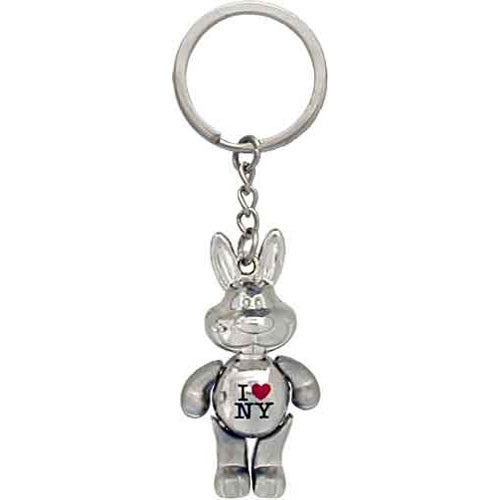 I Love NY Rabbit Keychain photo