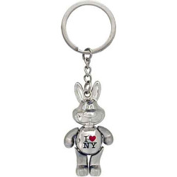 I Love NY Rabbit Keychain
