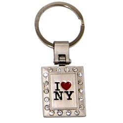 I Love NY Multi Diamond Keychain
