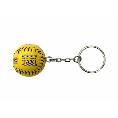 NYC Taxi Yellow Baseball Keychain photo