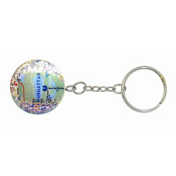 MTA Subway Map Baseball Keychain Photo
