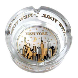 NYC Skyline Gold & Black Mini Glass Ashtray Photo