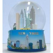 NYC Skyline Blue 65mm Snowglobe