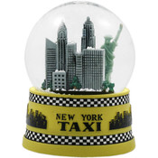 NYC Taxi 65mm Snowglobe