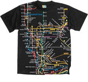 NYC Subway Map Black Mens Tee