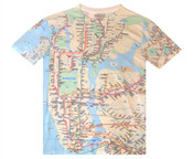 NYC Subway Map Full Color Mens Tee