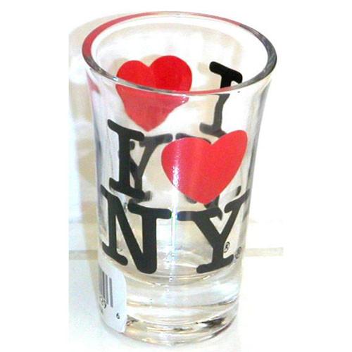 I Love NY Clear Shot Glass photo