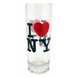 I Love NY Clear Shooter Glass Photo