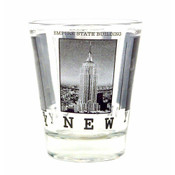 NYC Black & White Pictures Clear Shot Glass