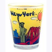 NYC Yellow Skyline Shot Glass