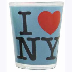 I Love NY Blue Shot Glass Photo