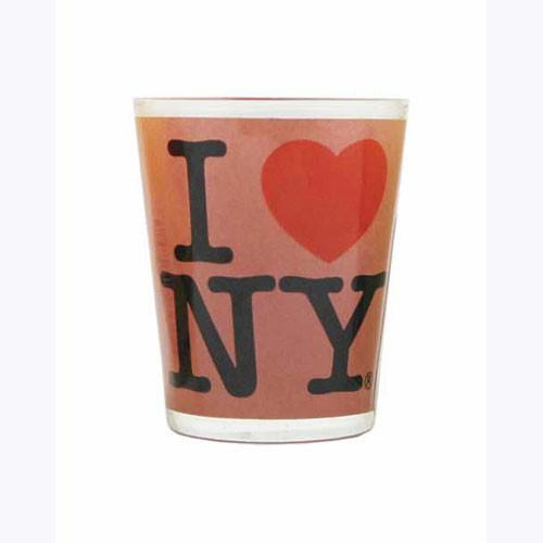I Love NY Pink Shot Glass photo