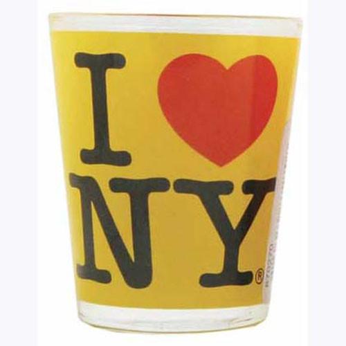 I Love NY Yellow Shot Glass photo