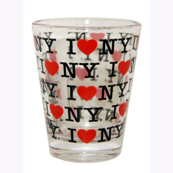 I Love NY Repeat Clear Shot Glass Photo