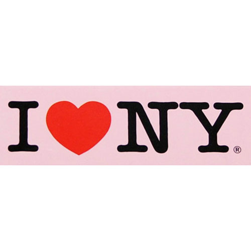 I Love NY Pink Magnet photo