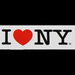 I Love NY White Magnet Photo