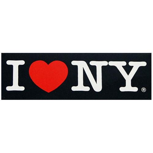 I Love NY Black Magnet photo