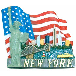 NYC/American Flag Magnet Photo