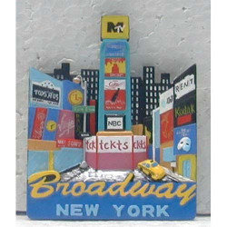 Times Square Poly Jumbo Magnet Photo