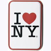 I Love NY White Tin Box w/Playing Cards