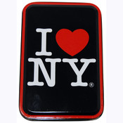 I Love NY Black Tin Box w/Playing Cards